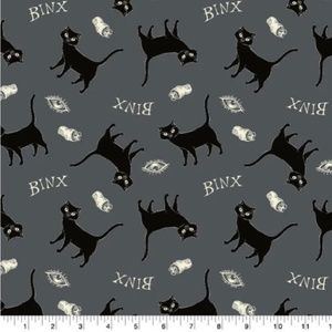 Hocus Pocus Binx Cat Fabric 1/2 Yd